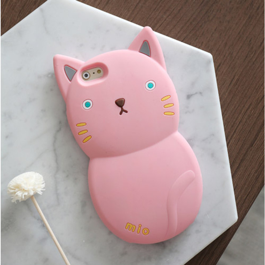 Pink - Monomate cute cat iPhone 6 jelly case