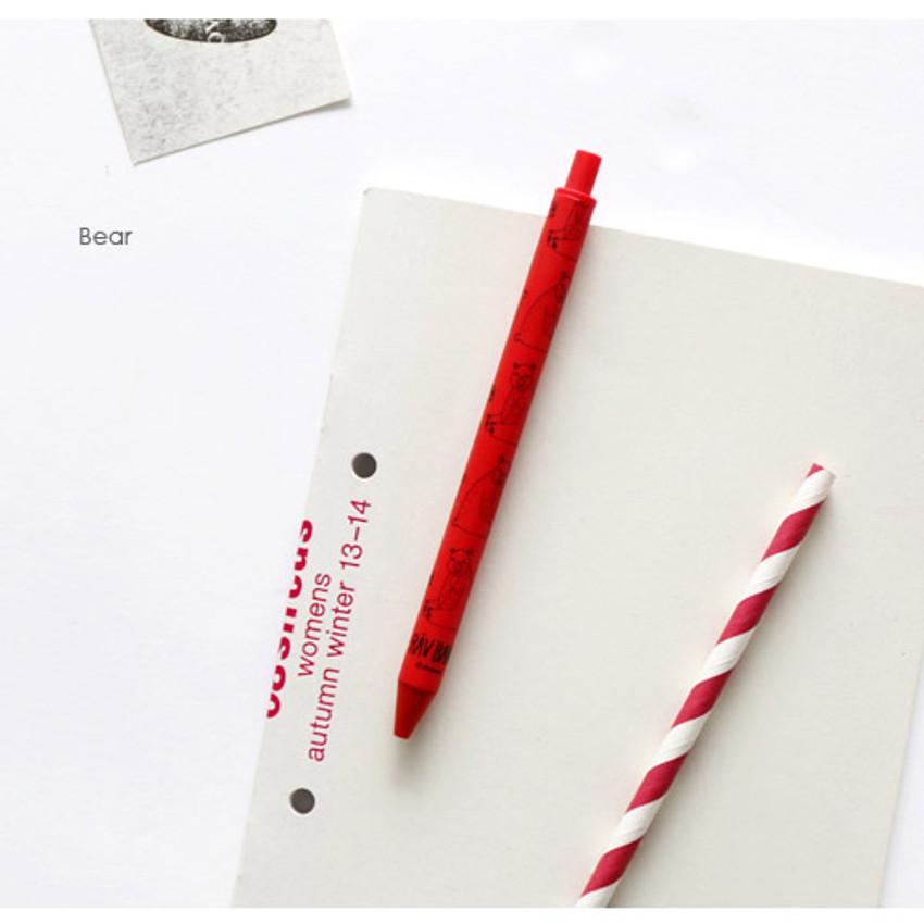 Bear - Ravband black gel pen 0.4mm