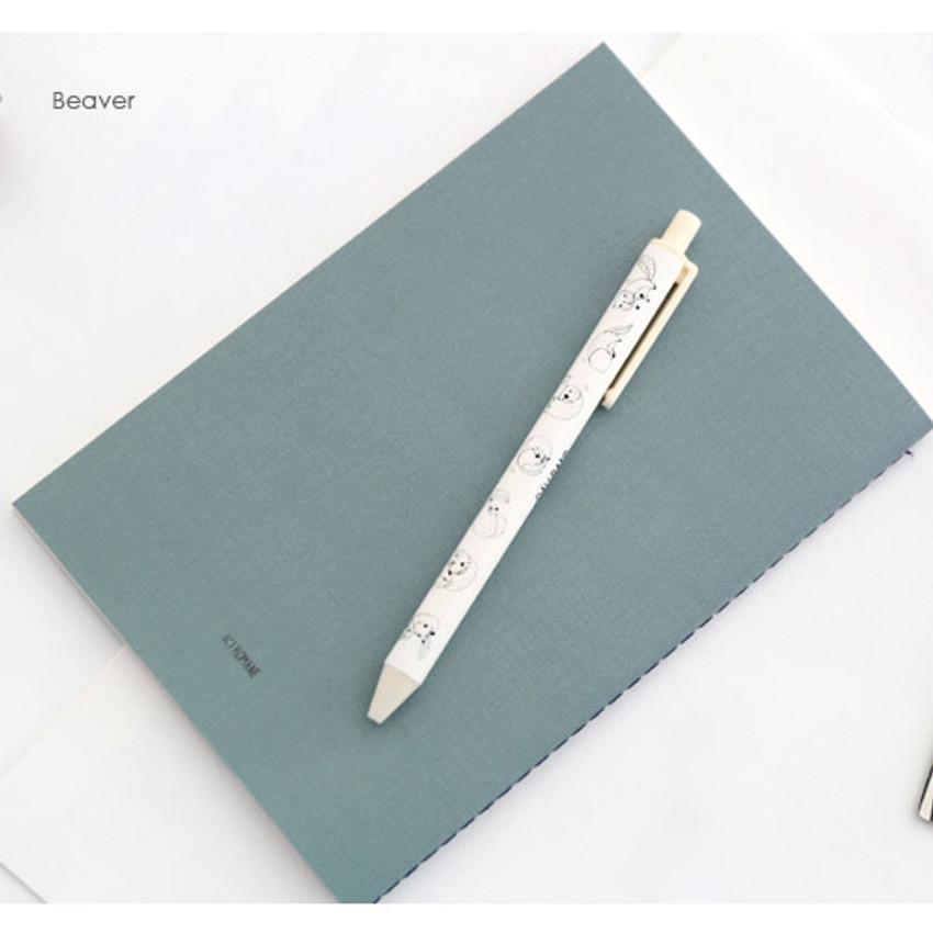 Beaver - Ravband black gel pen 0.4mm