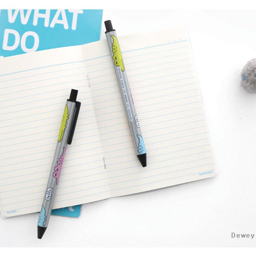 Dewey - Hellogeeks cute pattern black ballpoint pen