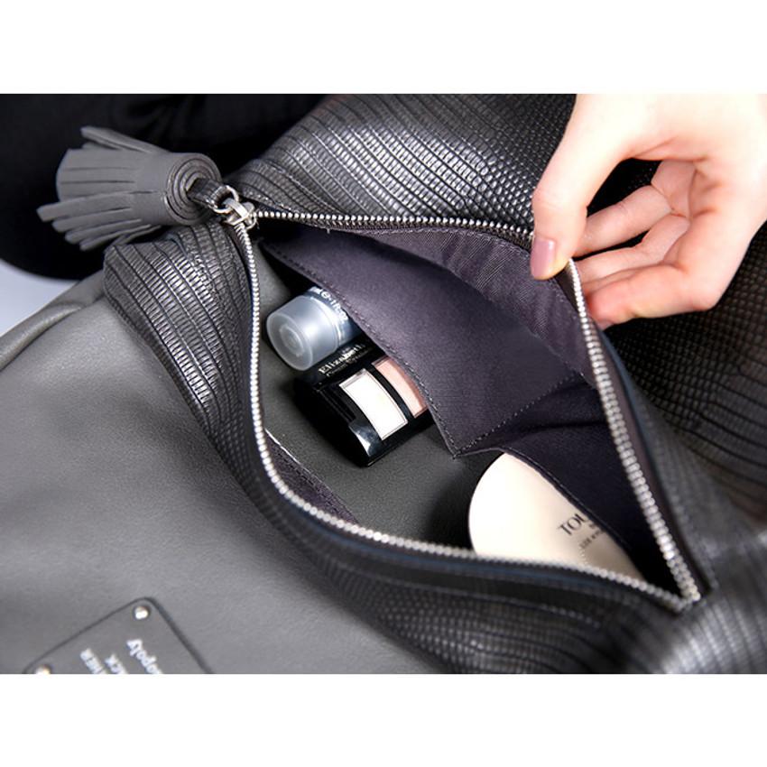 Front zip pocket