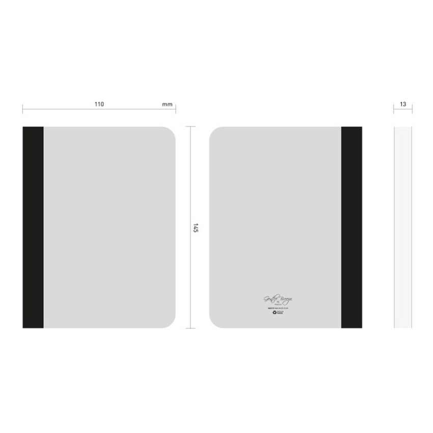 Size of Natural and Pure gray plain notebook