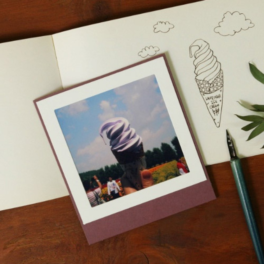 Color standing paper photo frame set