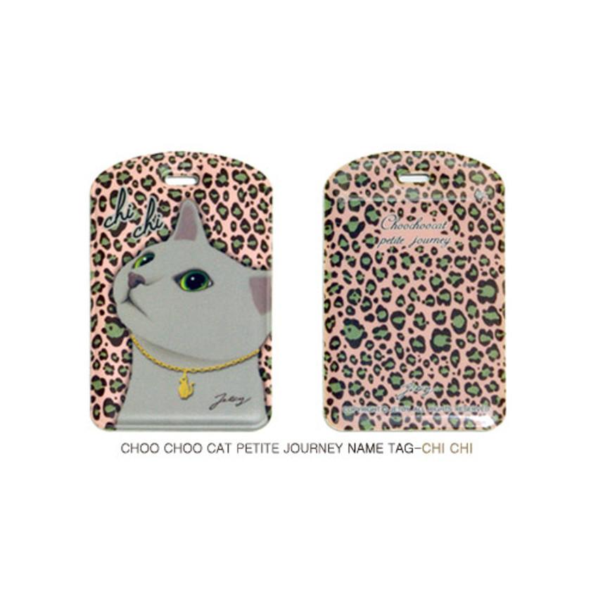 Chi Chi - Choo choo cat petite luggage name tag