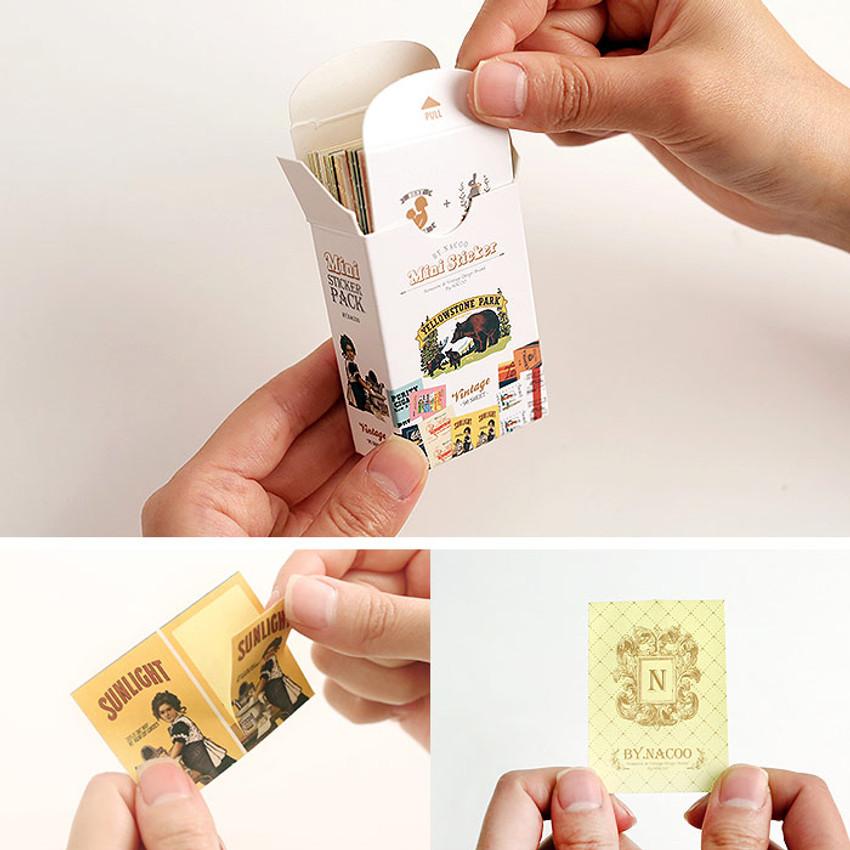 Detail of Nacoo Vintage small label sticker set