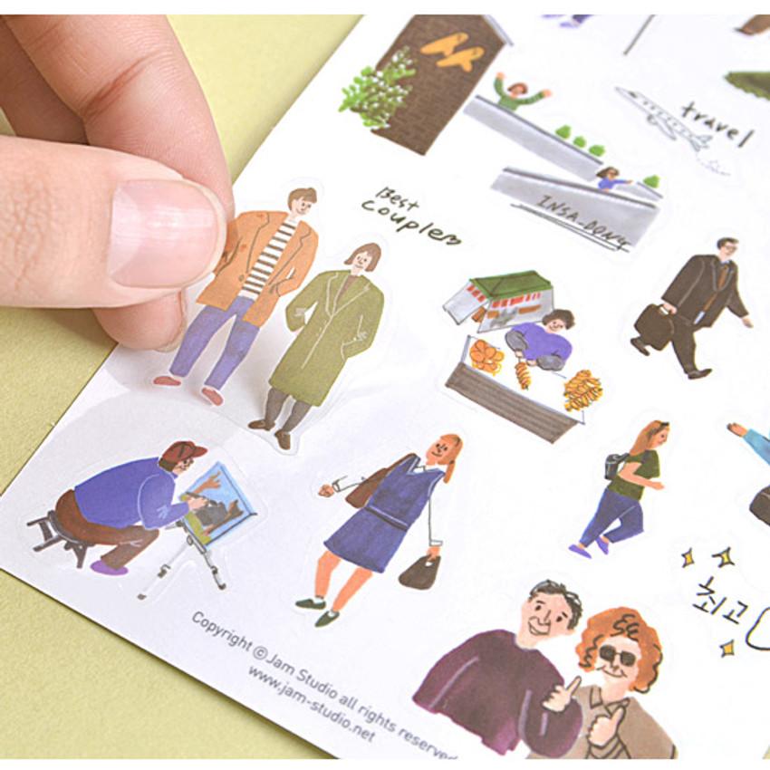 Detail of Seoul story translucent deco sticker