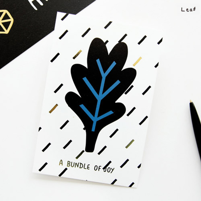 Leaf - Ghost pop illustration postcard