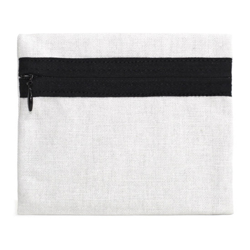 gentle cotton small pouch - gray