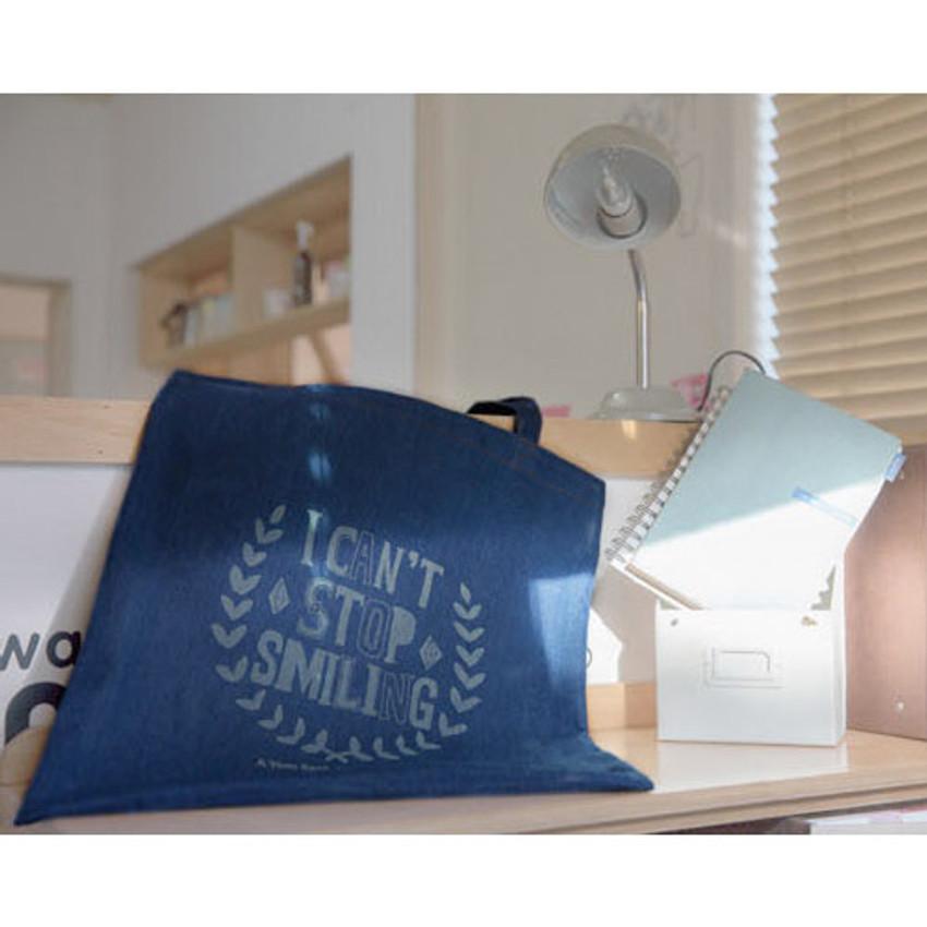 Denim canvas tote shoulder bag