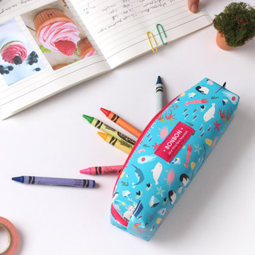 Bon Bon square zipper pencil case