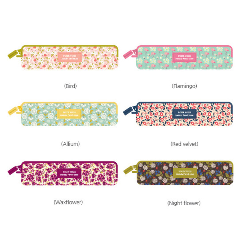 Pour vous melody square zipper pencil case