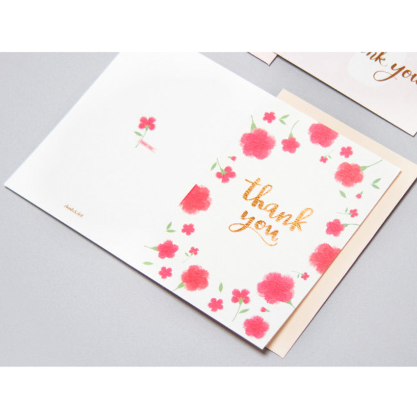 Ivory - Thank you very message card