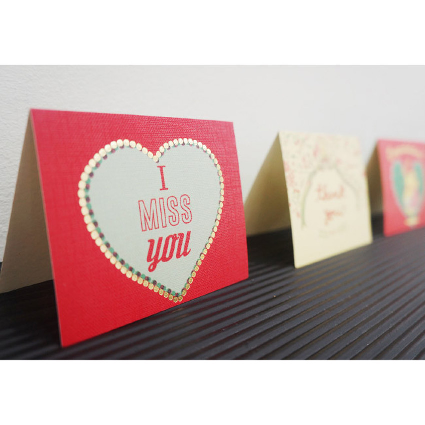 Mini message card