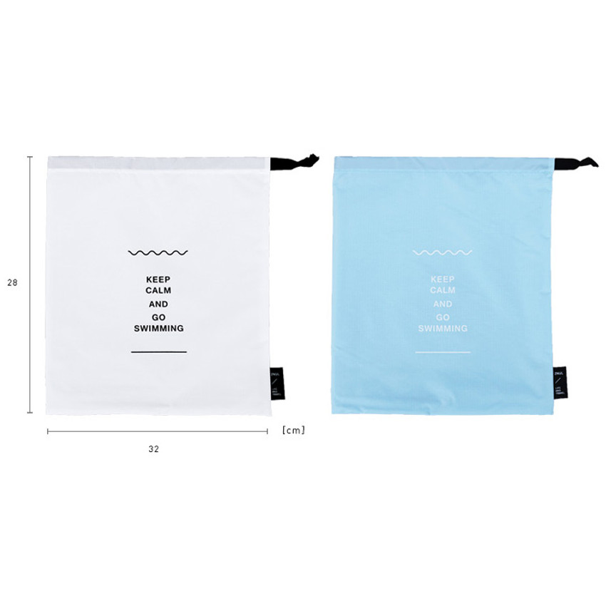 Size of Go swimming drawstring waterproof pouch ver.2