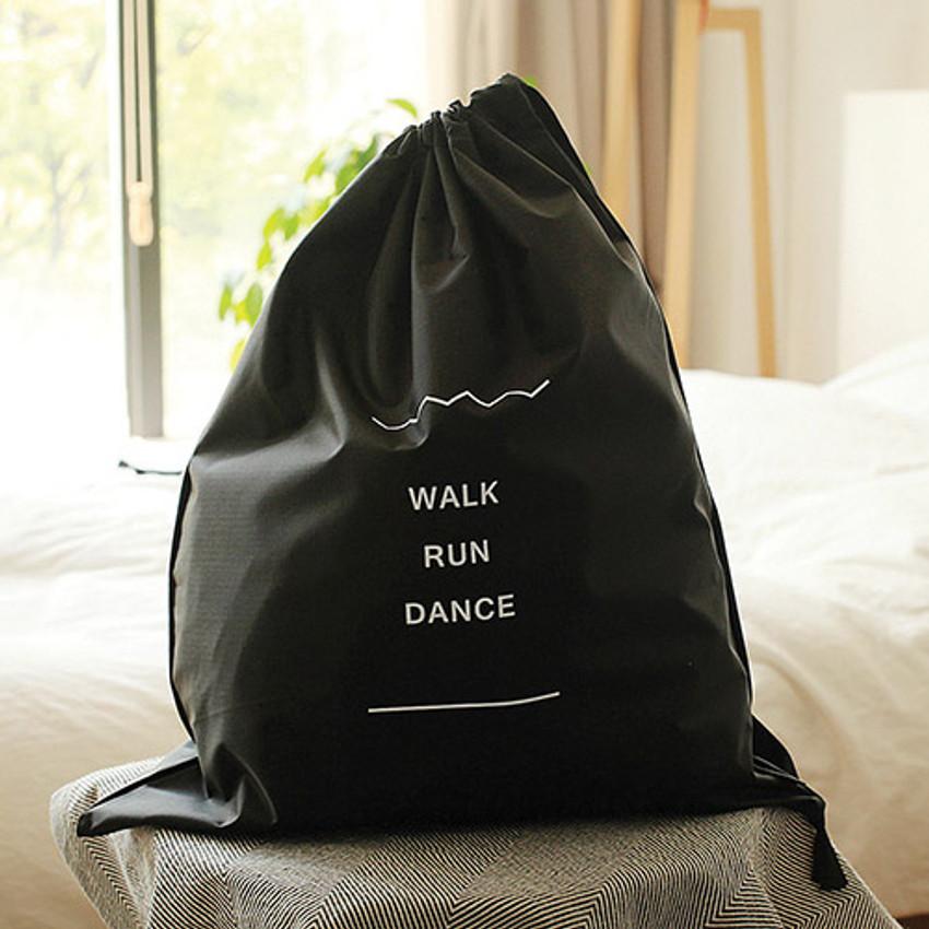 Walk run dance drawstring shoes pouch
