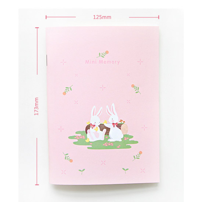 Size of Animal friends memory lined and plain notebook