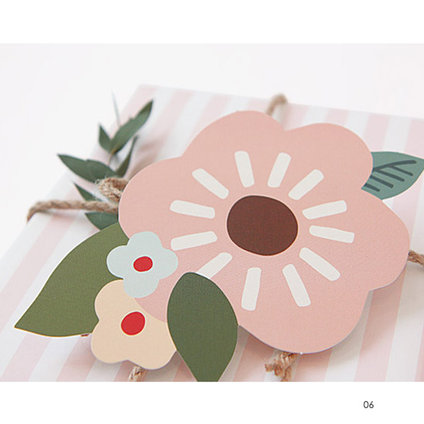 Breezy windy blooming thank you message card