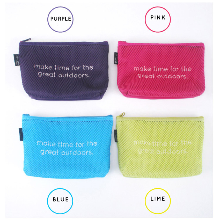Colors of Life is beautiful travel mesh pouch