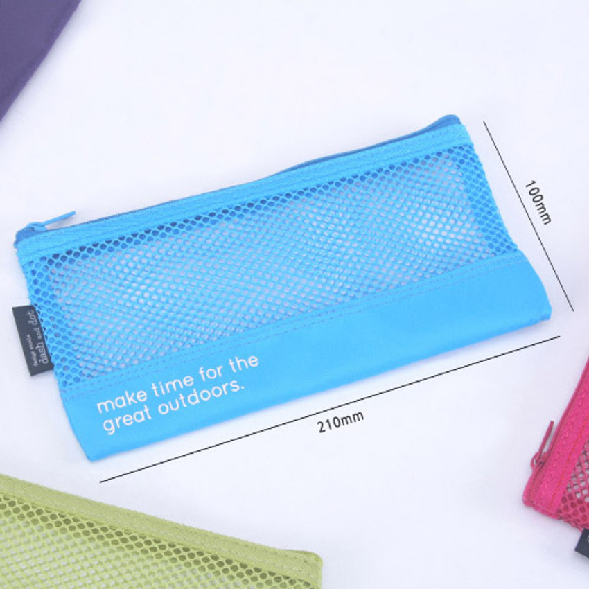 Size of Life is beautiful travel slim mesh pouch