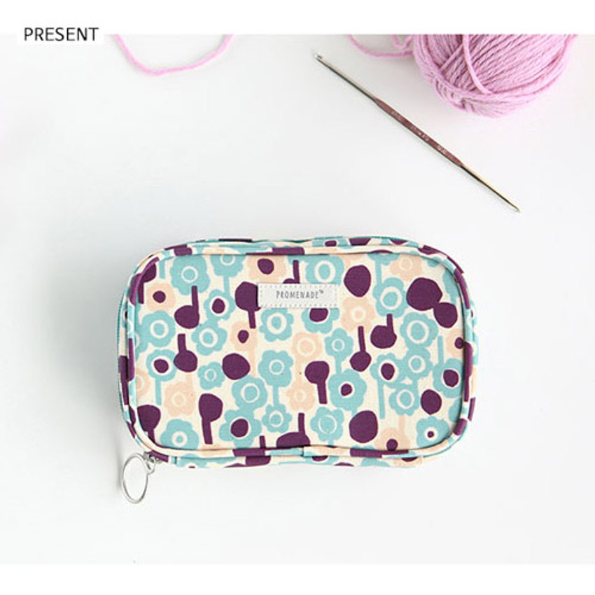 Present - Bonne promenade cotton cosmetic makeup pouch