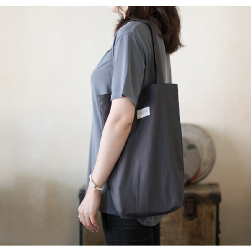 Charcoal - Natural and Pure gentle eco tote bag