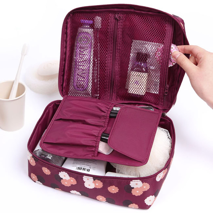 Pattern travel mesh multi pouch bag packing aids(Large)