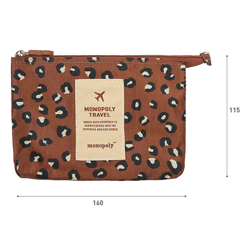 Size of Pattern travel mesh small zipper pouch