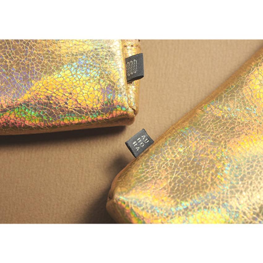 Gold - Aurora glitter square crossbody bag