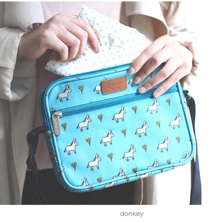 Donkey - Livework Jam Jam pattern side messenger bag