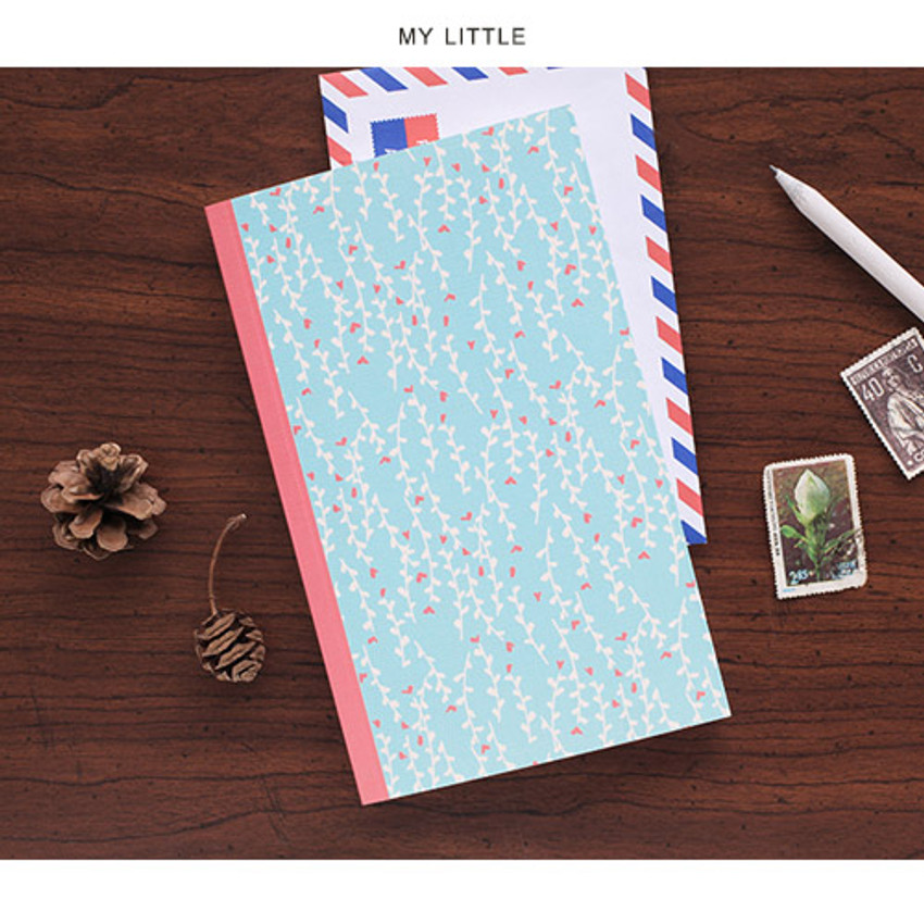 My little - Promenade flower pattern plain notebook