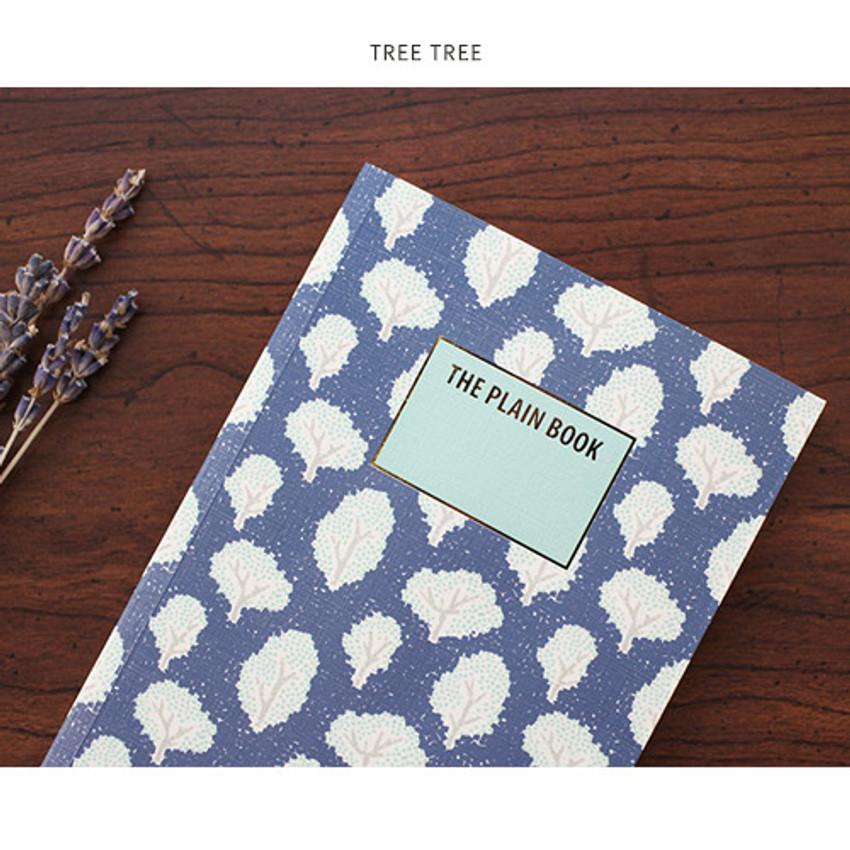 Tree tree - Promenade flower pattern plain notebook