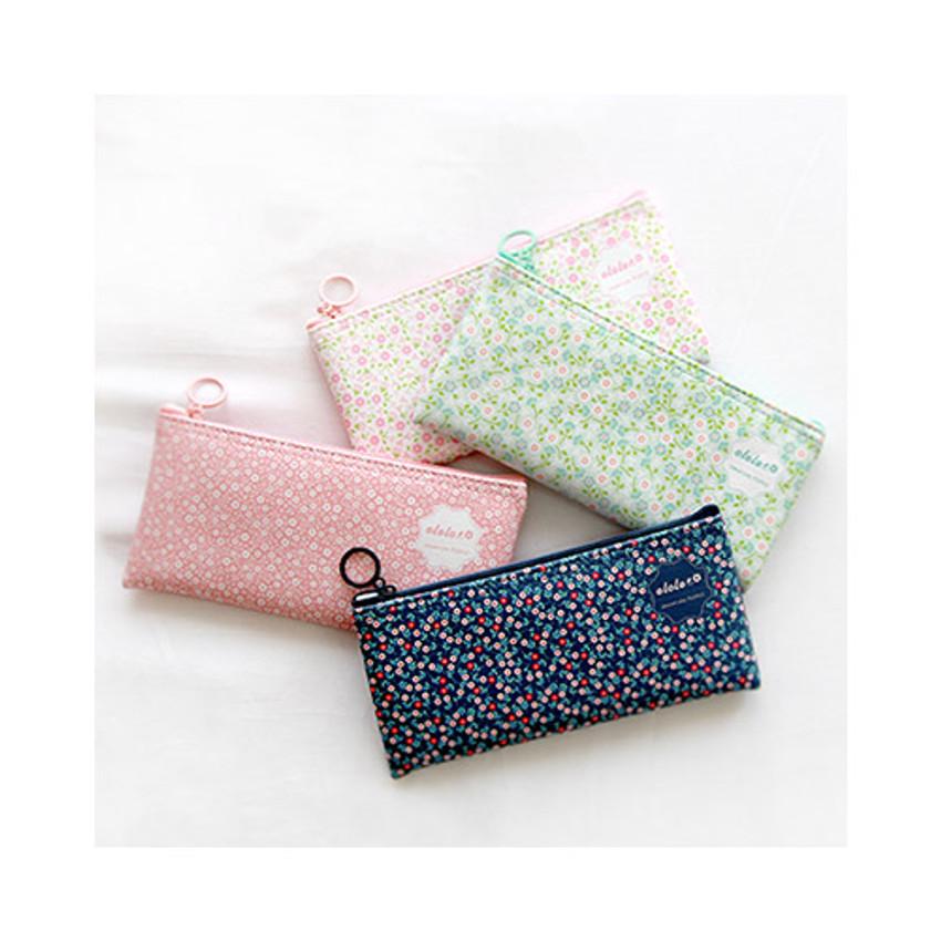 Handbag Organiser Pencil Case Fabric Pencil Case Zip Purse Multi Purpose Pouch Fabric Purse Pink Polka Dot Fabric Polka Dot Purse