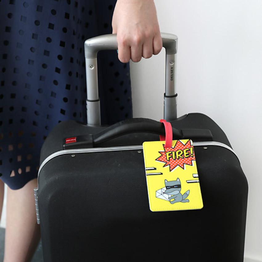 Hellogeeks Pop art travel luggage name tag