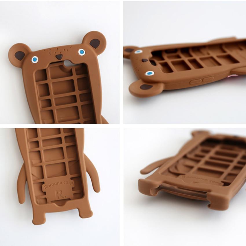 Detail of Monowave cute bear moya iPhone 6 jelly case