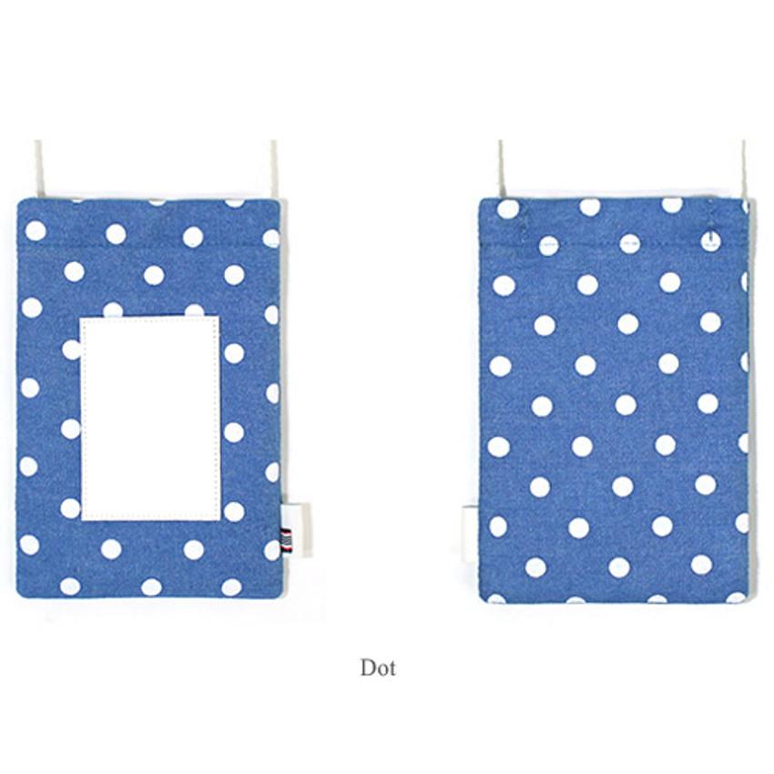 Dot - The Basic cotton denim small crossbody bag