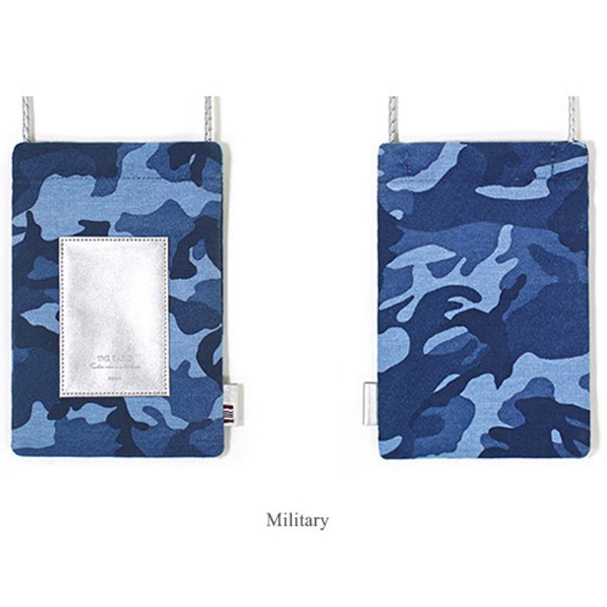 Military - The Basic cotton denim small crossbody bag