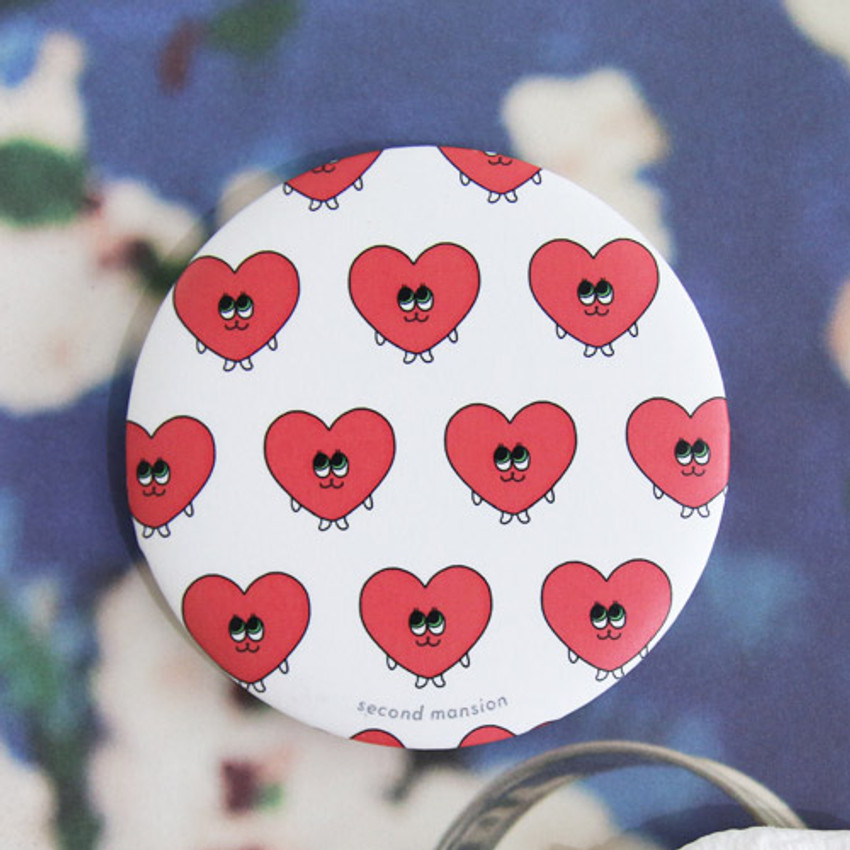 Heart - Second mansion round handy mirror