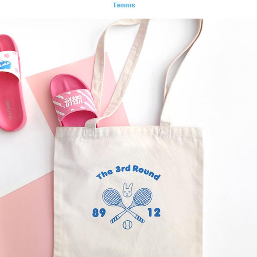 Tennis - Hellogeeks one point eco tote bag