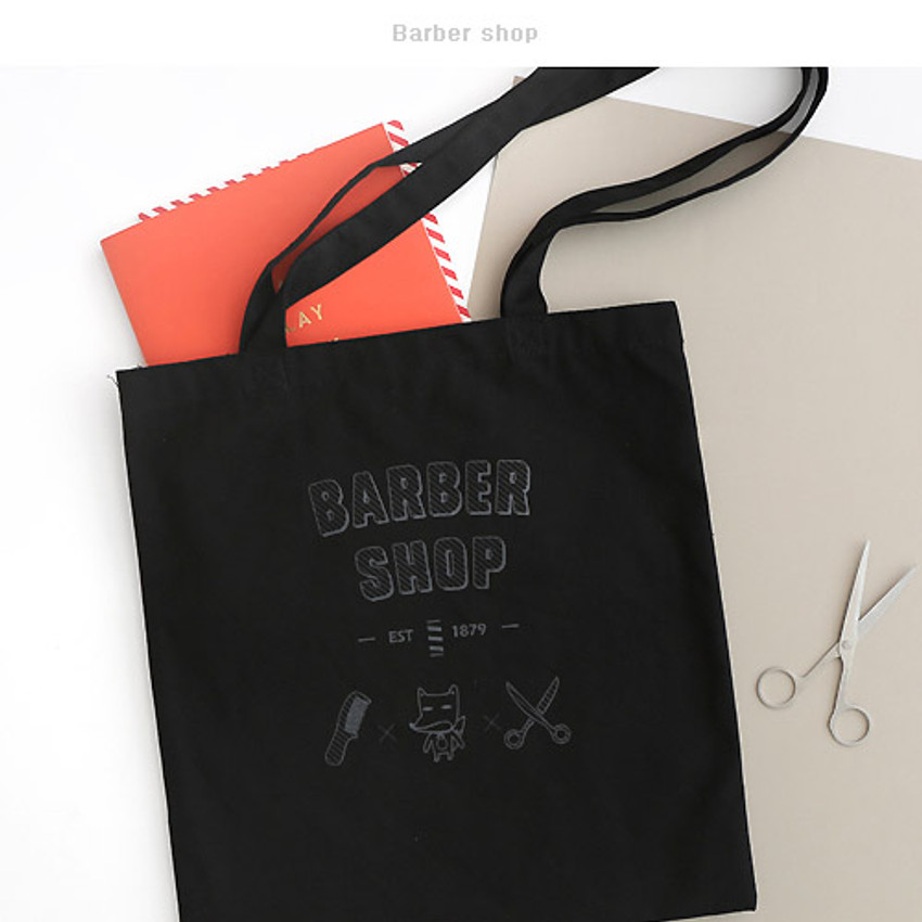 Barber shop - Hellogeeks one point eco tote bag