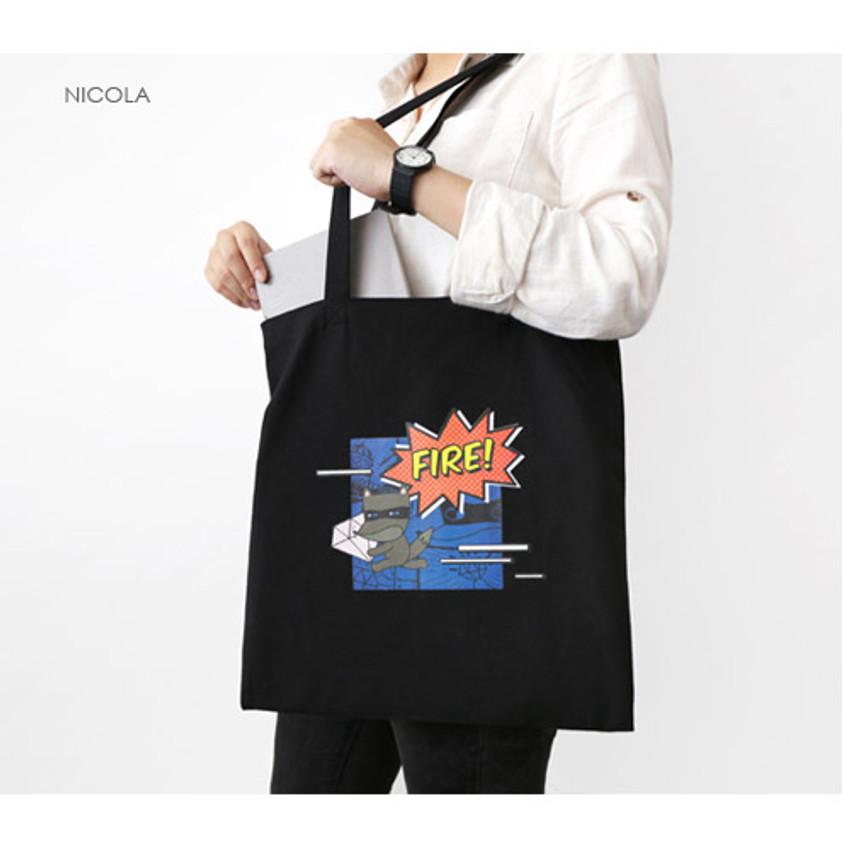Nicola - Hellogeeks pop art eco tote bag