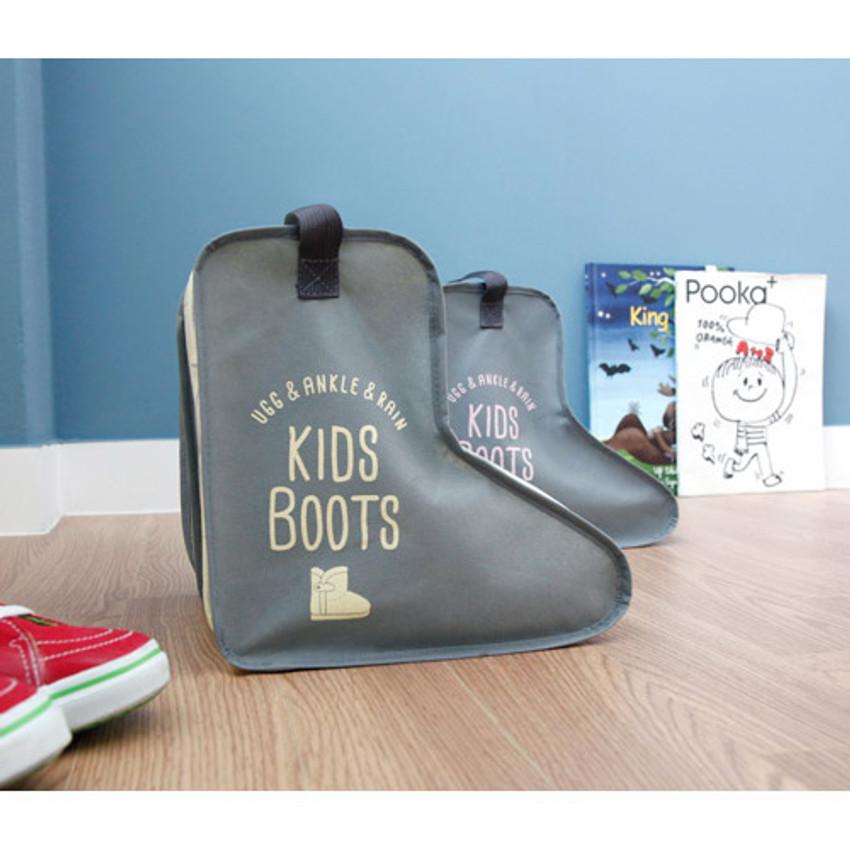 Yellow - Pastel scandic kids boots storage bag