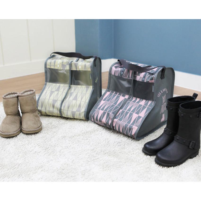 Pastel scandic kids boots storage bag