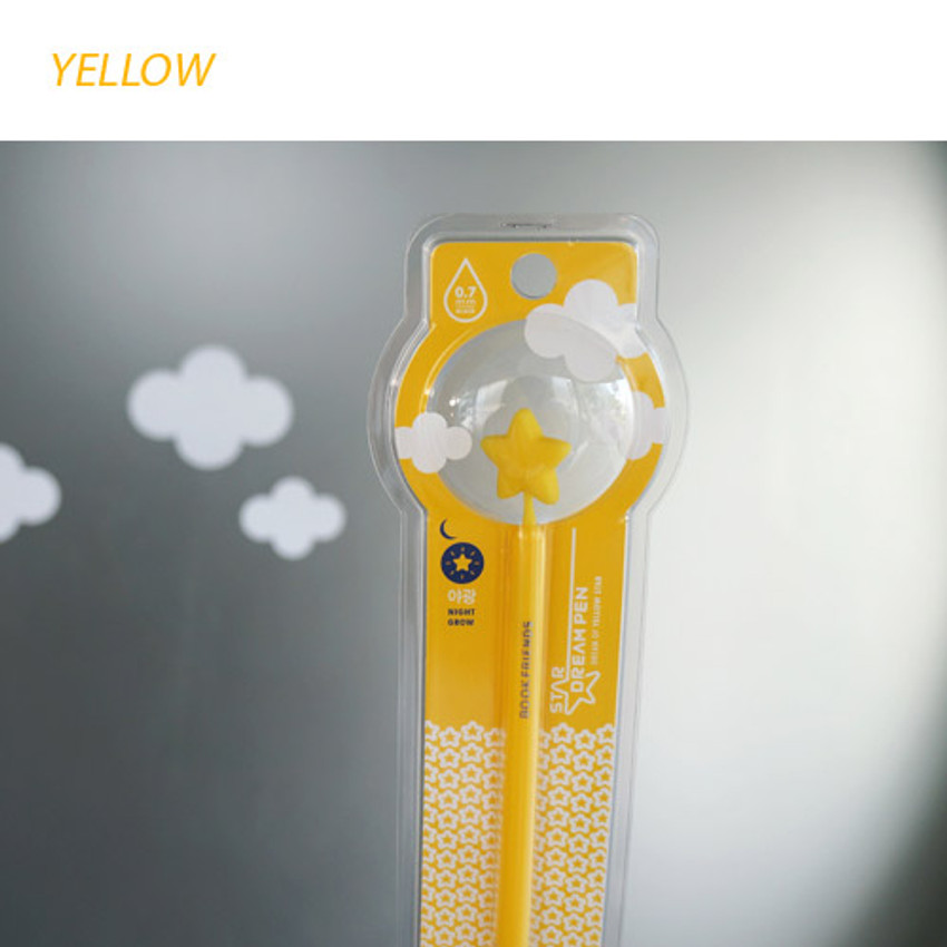 Yellow - Star dream black pen 0.7mm
