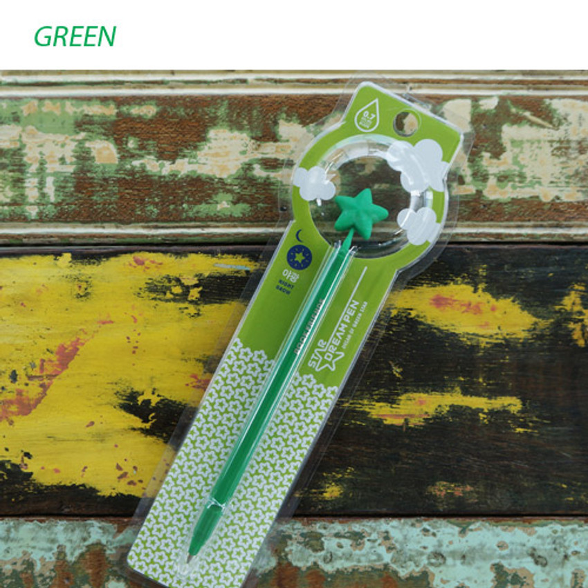 Green - Star dream black pen 0.7mm