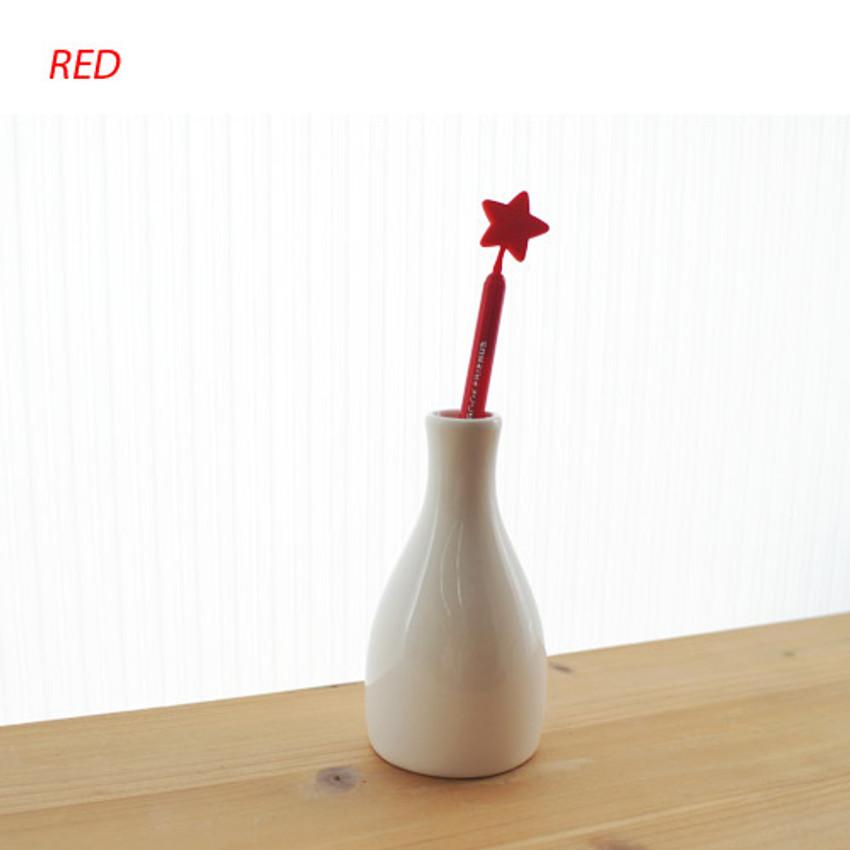 Red - Star dream black pen 0.7mm