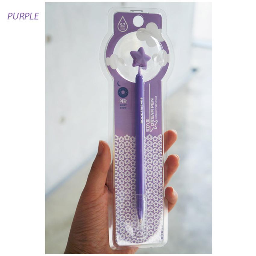 Purple - Star dream black pen 0.7mm