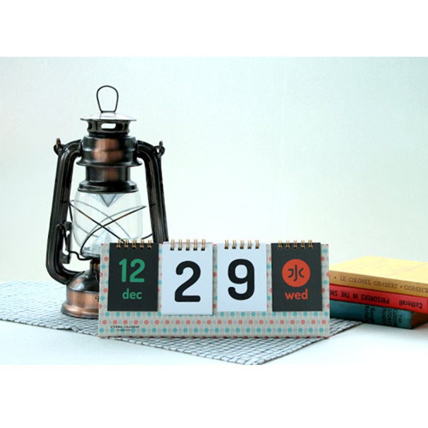 Hive - Wirebound flip perpetual desk calendar