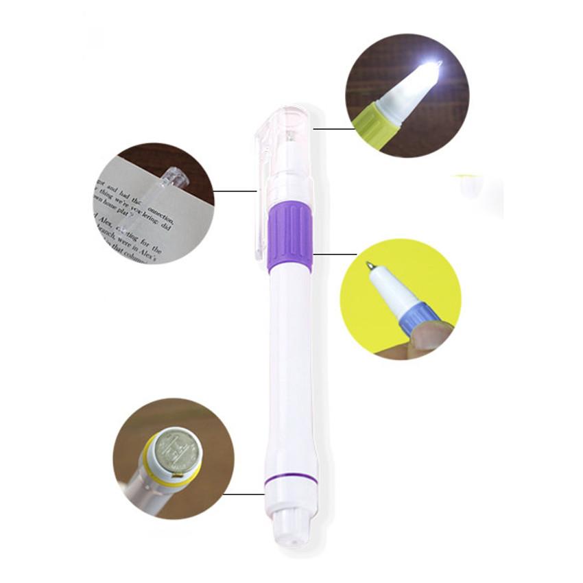 Detail of Bandi light tip pen with white led