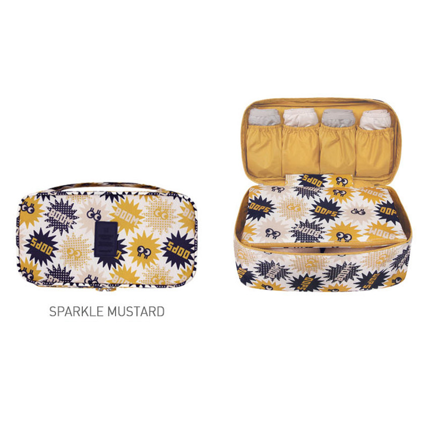 Sparkle mustard - Merrygrin travel large pouch bag for underwear