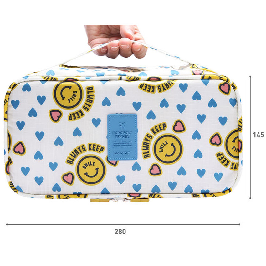 Size of Merrygrin travel large pouch bag for underwear